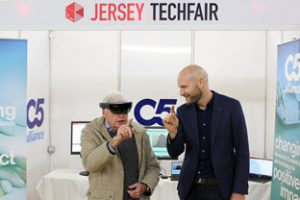 Showcasing augmented reality at the Tech Fair